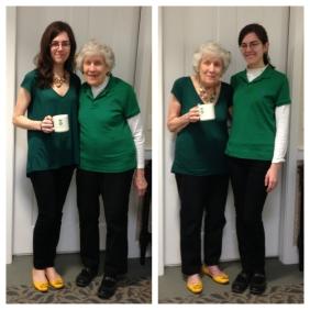 Grandma and Julia trading places